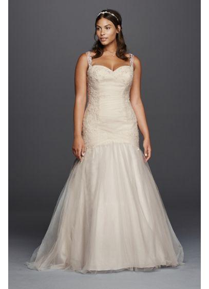 5d31520e8b1 ... Plus Size Tulle Trumpet Wedding Dress. AI13030026. Save