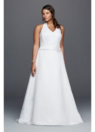 d9d3e5f272c1d ... V-neck Plus Size Wedding Dress. AI13030034. Long A-Line Wedding Dress -