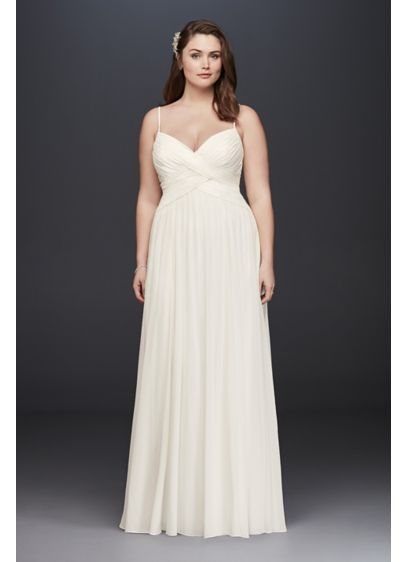 As-Is Ruched Bodice Plus Size Wedding Dress - A sweet and simple wedding dress, perfect for