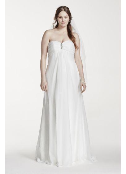 Strapless Empire Waist Plus Size Wedding Dress | David\'s ...