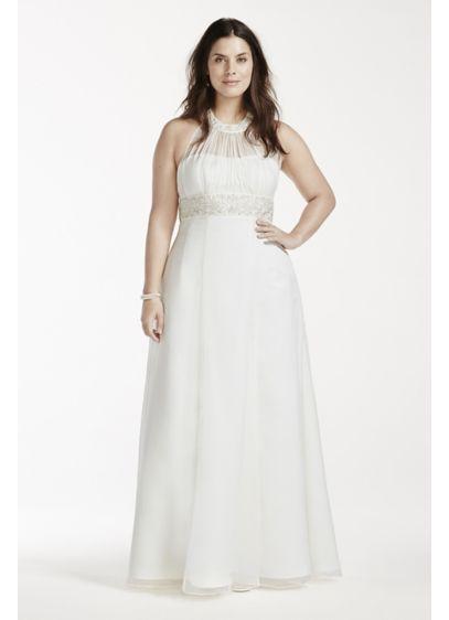 As-Is High Neck Halter Plus Size Wedding Dress | David\'s Bridal