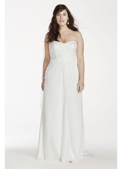 Long Sheath Wedding Dress