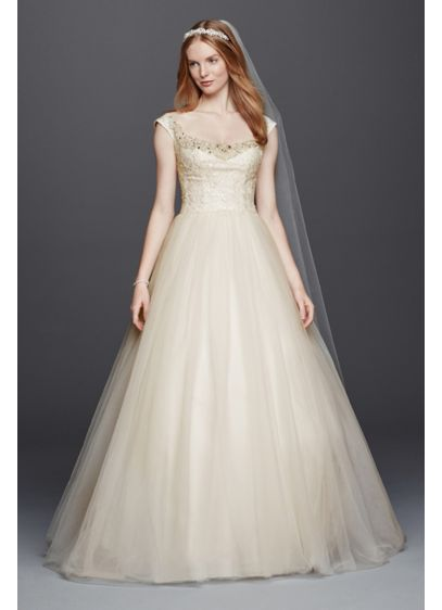 As-Is Embellished Tulle Wedding Dress - Inspired by estate jewelry and sewn with seven