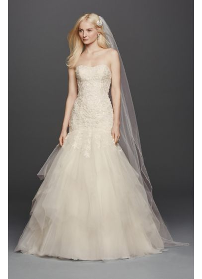 As-Is Strapless Mermaid Wedding Dress - Love at first sight is what you will