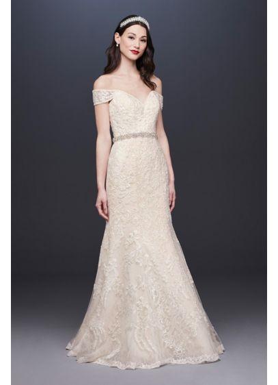 Ivory (As Is Off-the-Shoulder Mermaid Wedding Dress)
