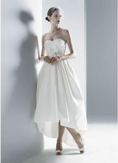 High Low Ballgown Strapless Dress -