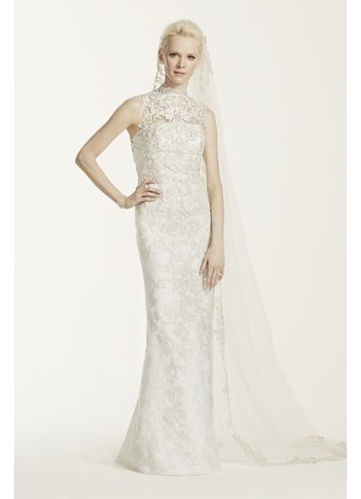 As-Is High Neck Lace Wedding Dress | David\'s Bridal