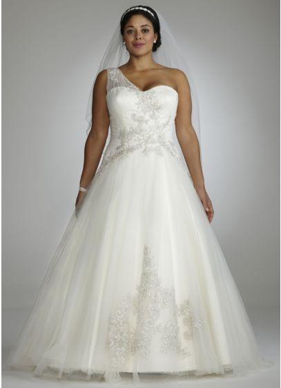 Long Ballgown One Shoulder Dress -