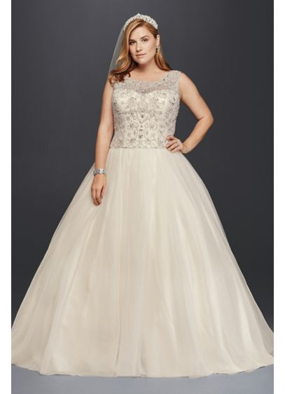 As-Is Plus Size Beaded Wedding Ball Gown