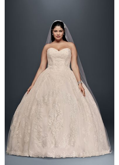 As-Is Plus Size Wedding Ball Gown with Lace - Looking for a classic wedding dress with romantic