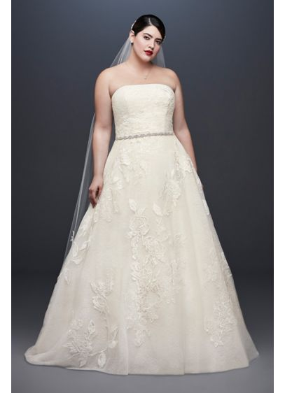 As-Is Rose Lace Plus Size Wedding Dress - A softer take on the classic ball gown,