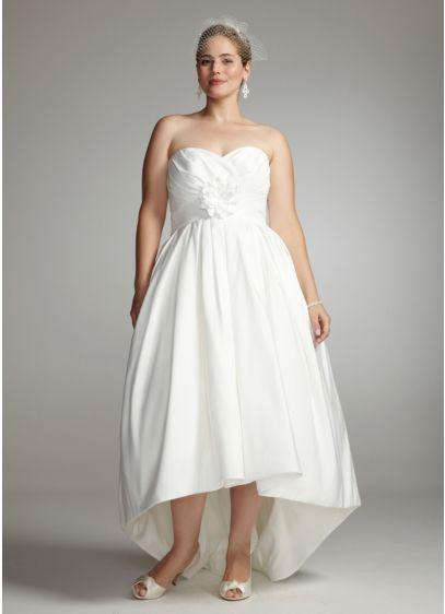 High Low Ballgown Wedding Dress -