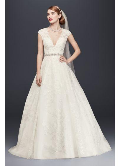As-Is Petite Cap Sleeve Wedding Dress - When we say