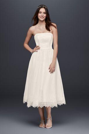 Simple Tea Length Dress