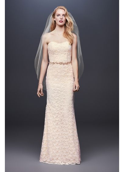 As-Is Guipure Lace Sheath Wedding Dress - Fresh, pretty, and perfect for any wedding, this