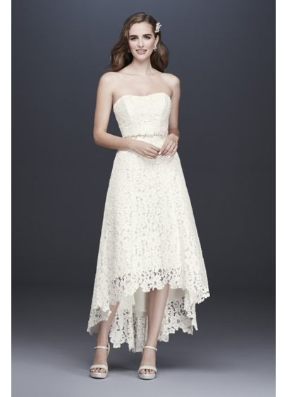 As-Is High-Low Corded Lace Wedding Dress - Choose your wedding shoes with extra-special care: crafted