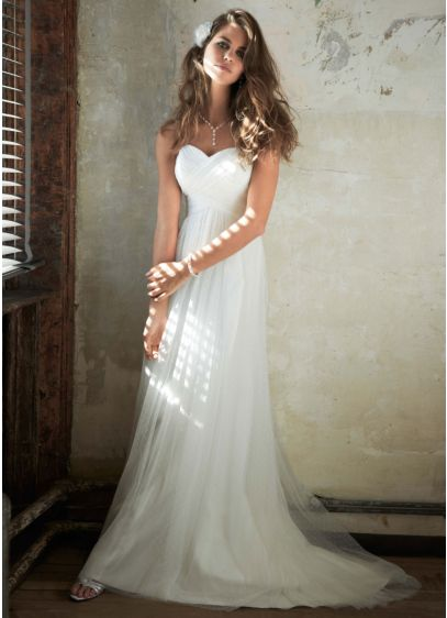 Long Sheath Strapless Dress