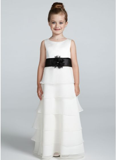 7147157ef97 Tank Organza Tiered Chiffon Flower Girl Dress. AI17010735. Long A-Line Tank  Dress -