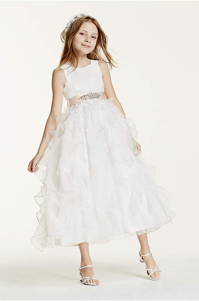 As-Is Organza Dress with Ruffled Skirt - Adorable organza dress is absolutely precious for your