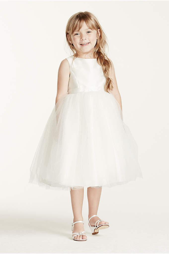 As-Is Tulle Ribbon Waisted Flower Girl Dress
