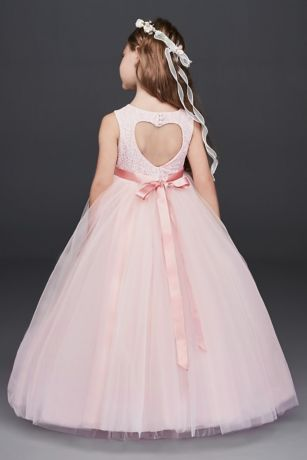 As Is Ball Gown Flower Girl Dress With Cutout David S Bridal