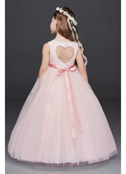 As-Is Ball Gown Flower Girl Dress with Cutout - Flower girls will feel like they're living in