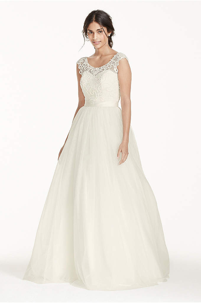 As-Is Petite Tulle with Lace Wedding Dress - The path to true love follows a unique