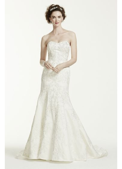 37781cadcc3b As-Is Petite Satin Trumpet Wedding Dress | David's Bridal