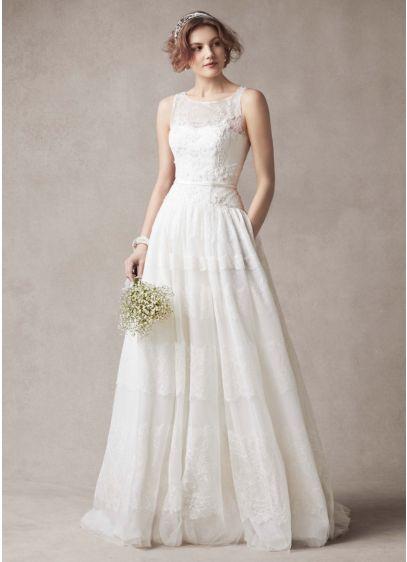 Melissa Sweet Sleeveless Wedding Dress with Tulle | David\'s Bridal