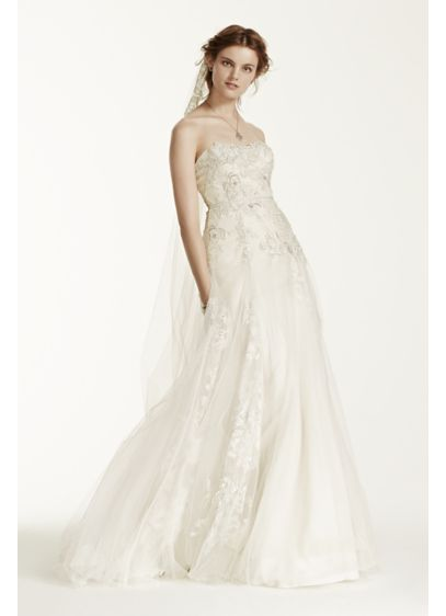 Ivory (As-Is Tulle Wedding Dress with 3D Flowers)