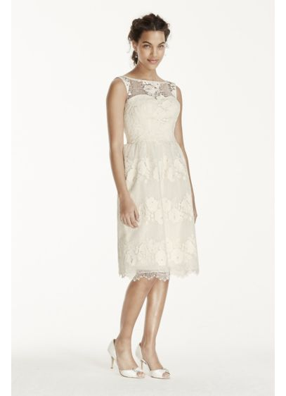 Short Ivory Soft & Flowy Melissa Sweet Bridesmaid Dress