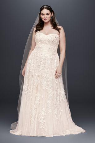 Plus Size Bridesmaid Dresses Blush Lace