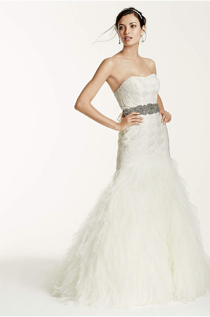 As-Is Extra Length Gown with Basket Woven Bodice - When it comes to making the ultimate impact,