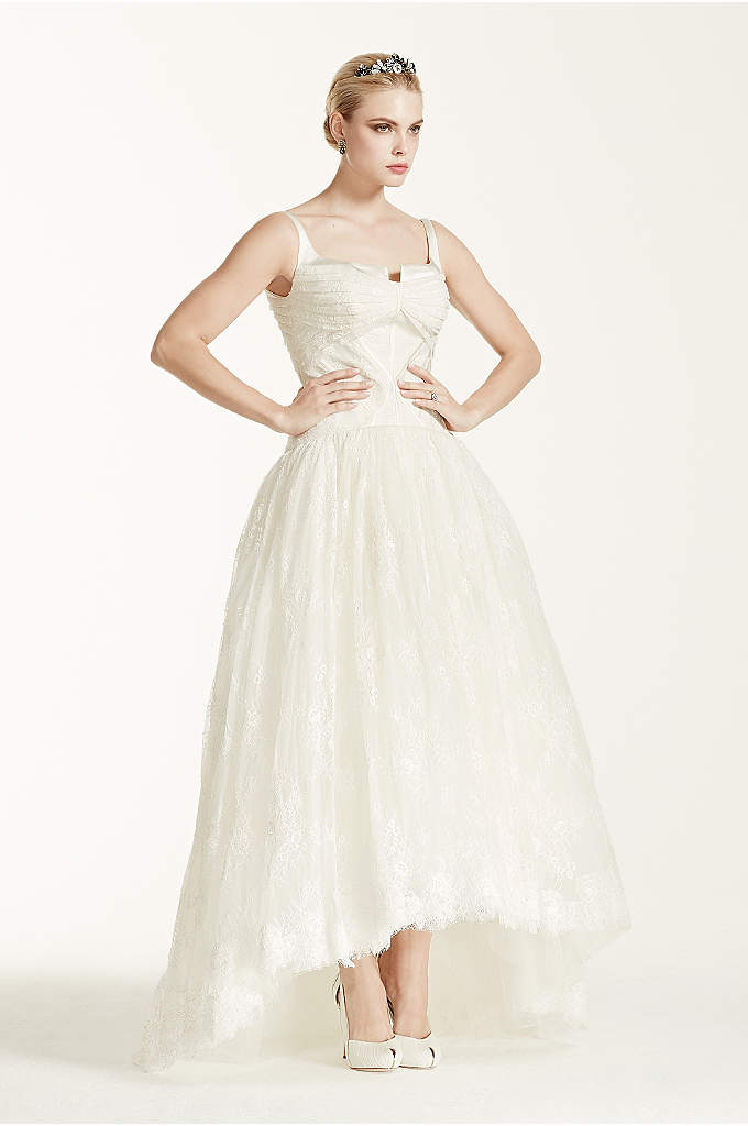 As-Is Lace High Low Tank Wedding D - A take on a classic ball gown, takes