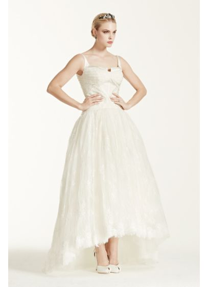 Ivory (As-Is Lace High Low Tank Wedding D)
