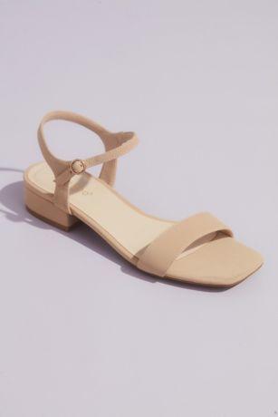 Bamboo Beige;Grey;Yellow Heeled Sandals (Metallic Block Heel Sandals with Ankle Strap)
