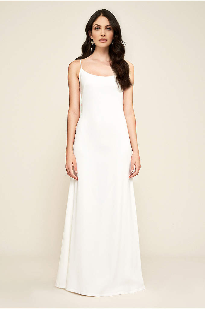 Libby Crepe Slip Wedding Dress - Timeless in every way, this body-skimming stretch crepe