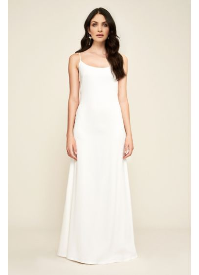 a3af7fa1f050f Libby Crepe Slip Wedding Dress | David's Bridal