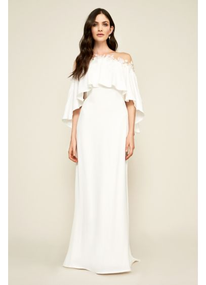 Athenia Capelet Wedding Dress - A goddess-inspired crepe gown for the modern bride,
