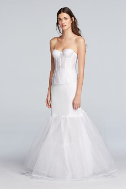wedding dress slips a line silhouette slip david s bridal 9263