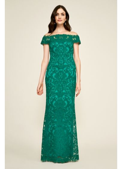 0574dc643c8 Long Mermaid  Trumpet Off the Shoulder Cocktail and Party Dress - Tadashi  Shoji