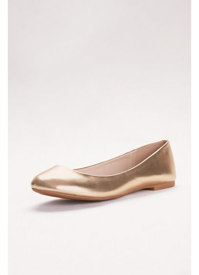 David's Bridal Yellow (Metallic Ballet Flats)