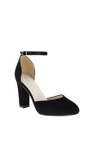 "Benjamin Walk Black;Ivory;White Heeled Sandals (D""Orsay Mary Jane Block Heels with Ankle Strap)"