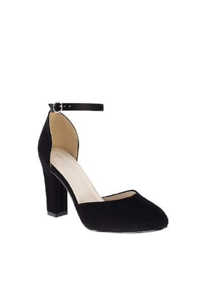 Benjamin Walk White (D'Orsay Mary Jane Block Heels with Ankle Strap)