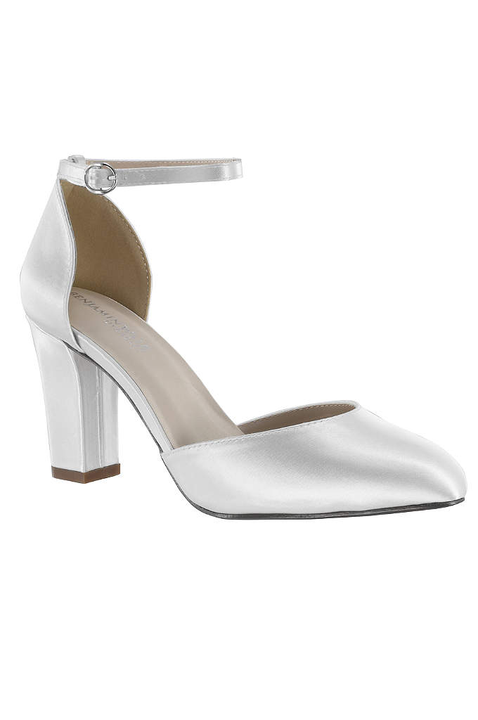 D Orsay Mary Jane Block Heels with Ankle Strap