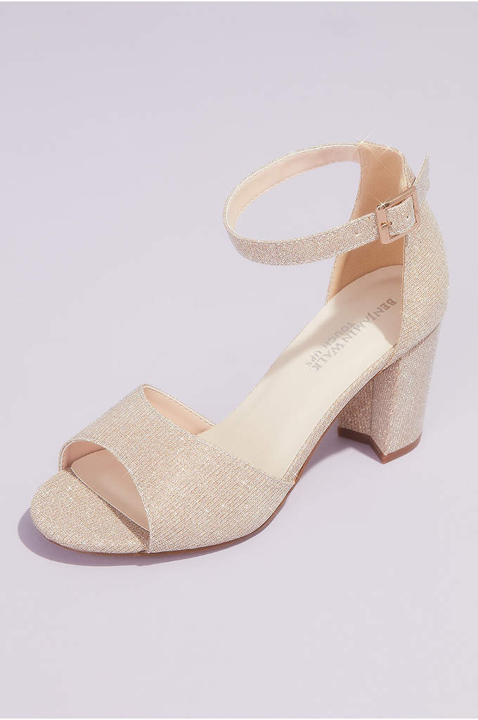 Chunky Block Heel Sandals with Ankle Strap