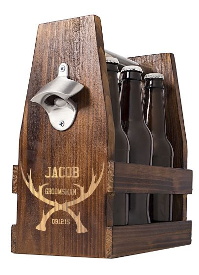 Personalized Antlers Craft Beer Holder - Wedding Gifts & Decorations