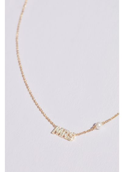 18K Gold Plated MRS Necklace with Pearl Detail - Level up your necklace layering game with this