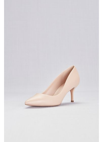 Charles By Charles David Beige (Mid-Heel Pointy Toe Pumps)