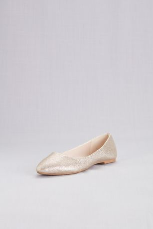 95b8e231c3ac David's Bridal Grey;Yellow Closed Toe Shoes (Allover Glitter Pointed Toe  Flats)